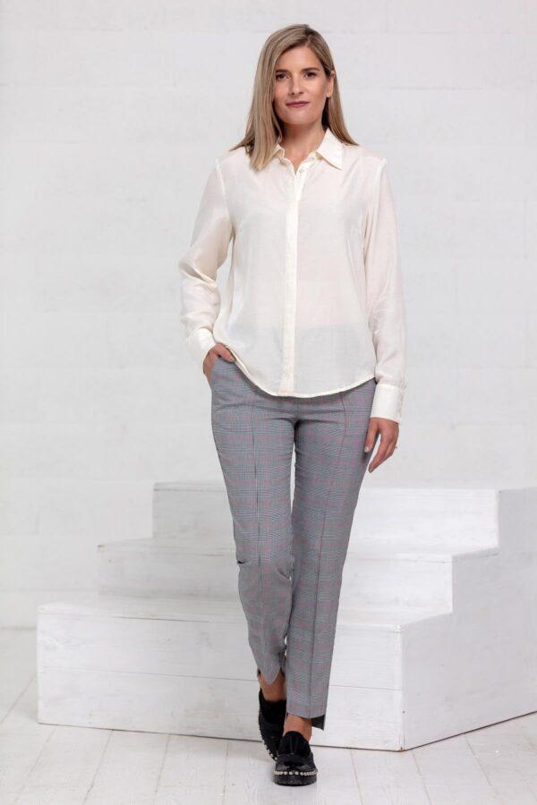 Pieno baltumo marškiniai My own blouse 19 - Tauri Look