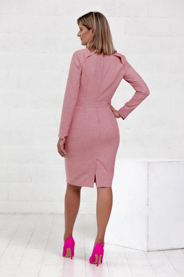 Stilinga raudona suknelė ofisui - Tauri Look